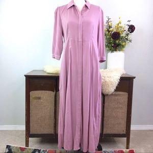 Soft Surroundings Laurel button down maxi dress